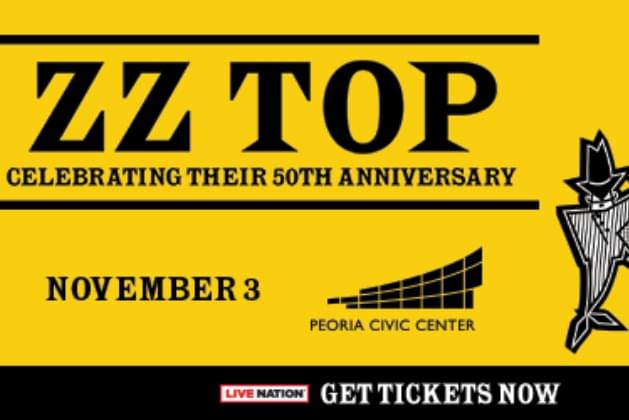 ZZ Top Set To Rock The Peoria Civic Center!