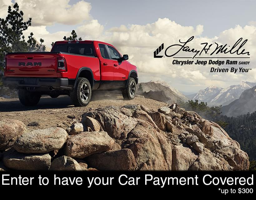 "Larry H. Miller Chrysler Jeep Dodge Ram Wants to ""Cover your Car Payment"" Contest"
