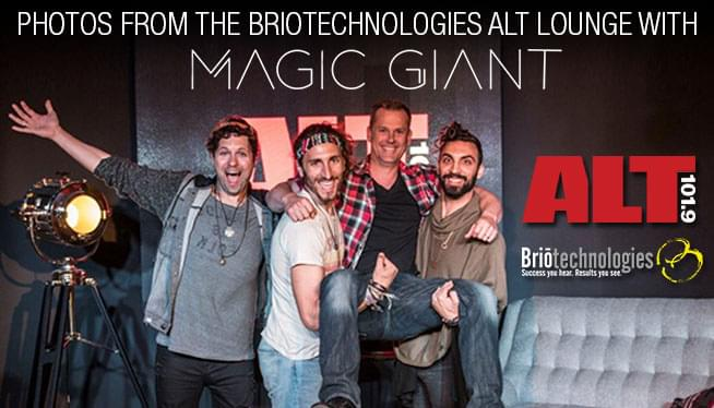 Photos from our ALT Lounge with Magic Giant!