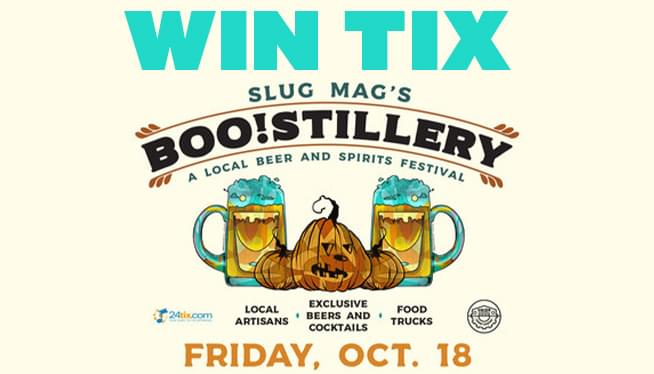 Win Tix SLUG Magazine presents BOO!STILLERY