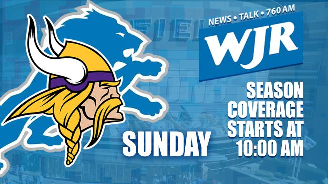 Lions vs. Vikings – Oct. 20 – WJR's Tailgate Team