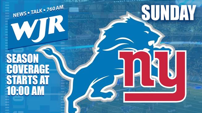 Lions vs. Giants – Oct. 27 – WJR's Tailgate Team