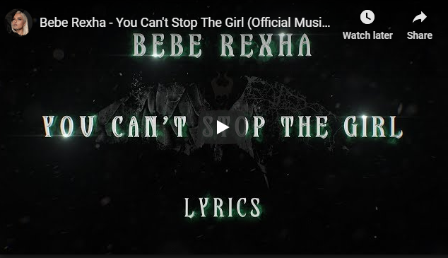 "Rick's Pick – Bebe Rexha – ""You Can't Stop The Girl"""