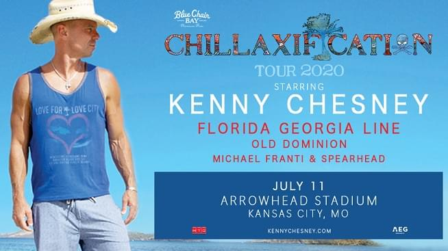 Win Tickets To The Kenny Chesney Chillaxification Tour With Kenny, Plus One!