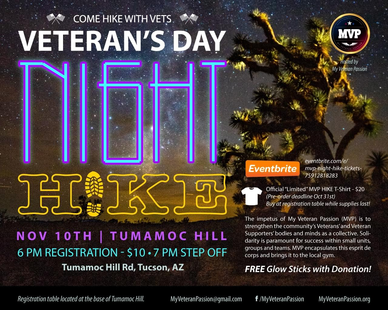 11/10: Veteran's Day Night Hike