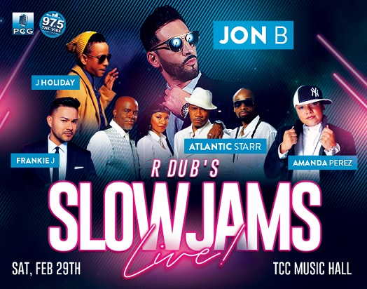 Slow Jams LIVE – February 29th!