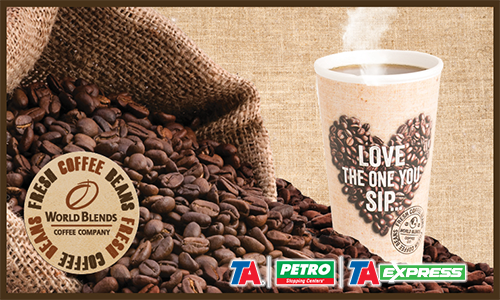 Stop by TA, Petro and TA Express and experience their new World Blends coffees!