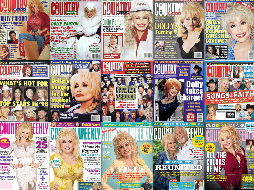 """Throwback Thursday: In Honor of Dolly Parton's Birthday Today, Check Out 25 """"Country Weekly"""" Magazine Covers Featuring the Icon"""