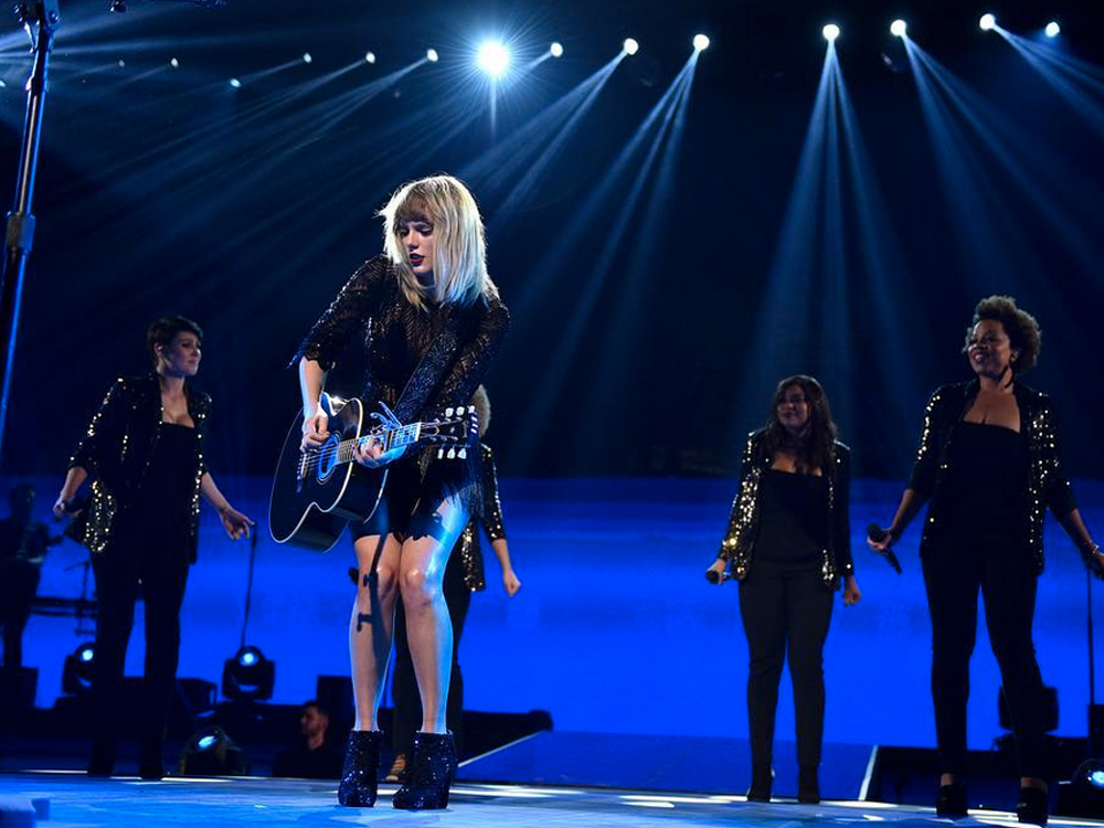 "Watch Taylor Swift Perform Little Big Town's ""Better Man"" for the First Time in Concert at Pre-Super Bowl Show"