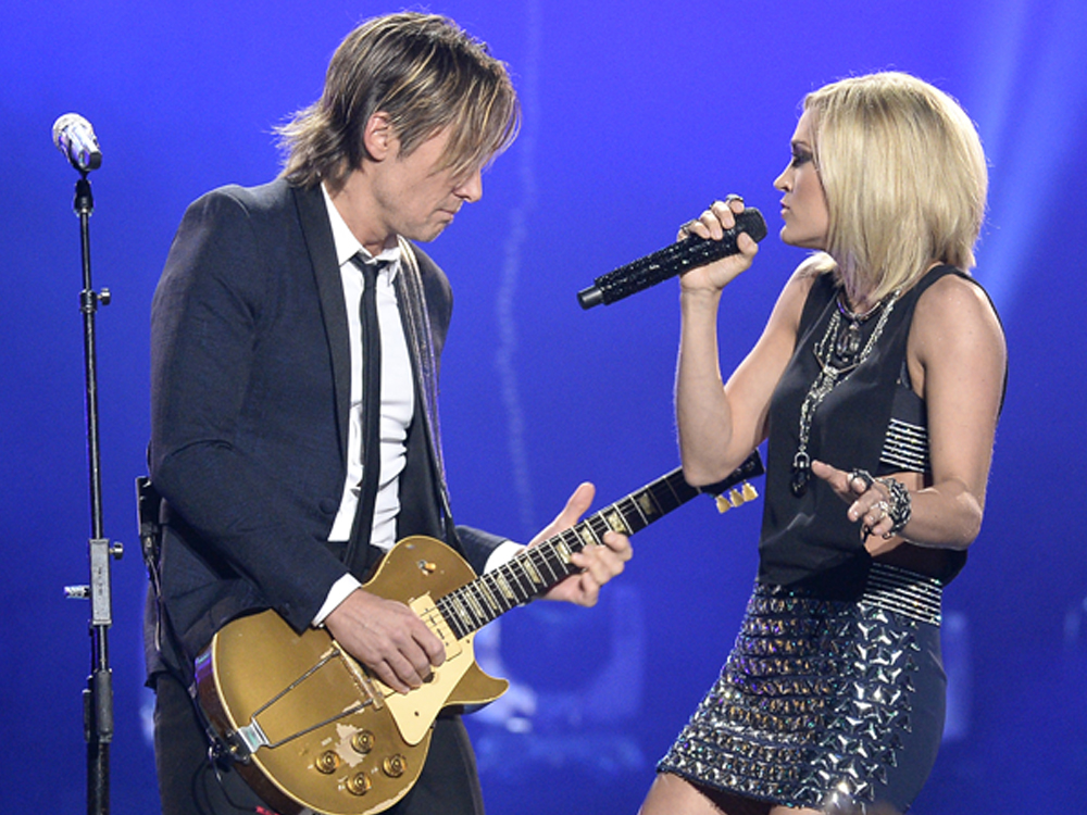 """Keith Urban and Carrie Underwood Team Up to Sing """"The Fighter"""" at the Grammy Awards [+Listen to Keith's New Single]"""