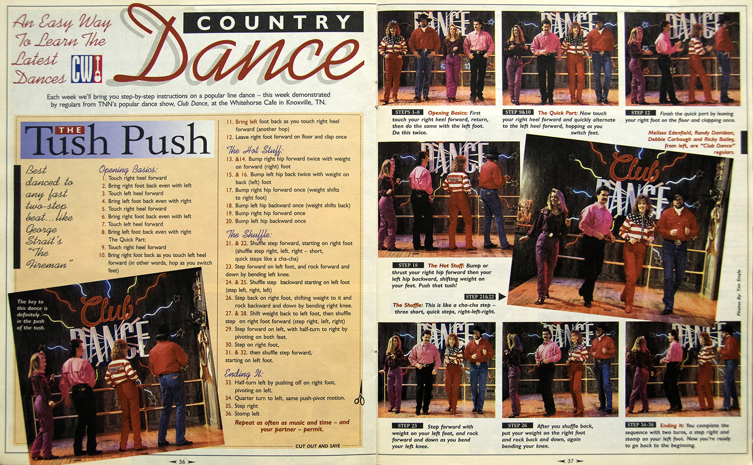 Learn to Country Dance: The Tush Push