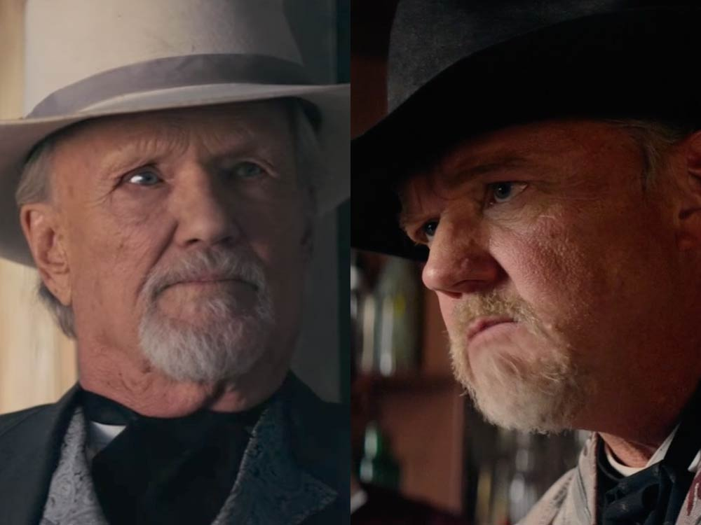 "Watch Behind-the-Scenes Footage of Trace Adkins & Kris Kristofferson in New ""Hickok"" Movie"