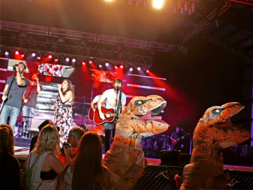 Social Media Roundup: Lady Antebellum's Dinosaurs, Charles Kelley's Double Eagle, Kane Brown's Mud Fun & More