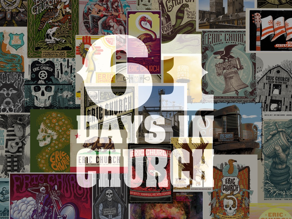 """Eric Church to Release 122 Live Recordings in the Coming Weeks in New Project, """"61 Days In Church"""" . . . 30 Songs Available Now"""