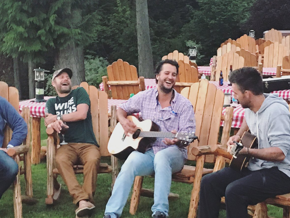 Social Media Roundup: Jake Owen's Jokes, Brett Eldredge's Best Bud, Trisha Yearwood's Hotcakes & More
