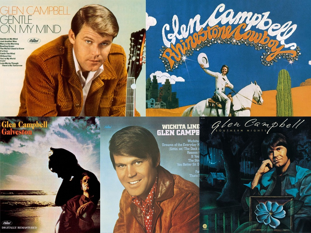 """The Stories Behind 5 of Glen Campbell's Biggest Hits, Including """"Rhinestone Cowboy,"""" """"Gentle On My Mind"""" & More"""