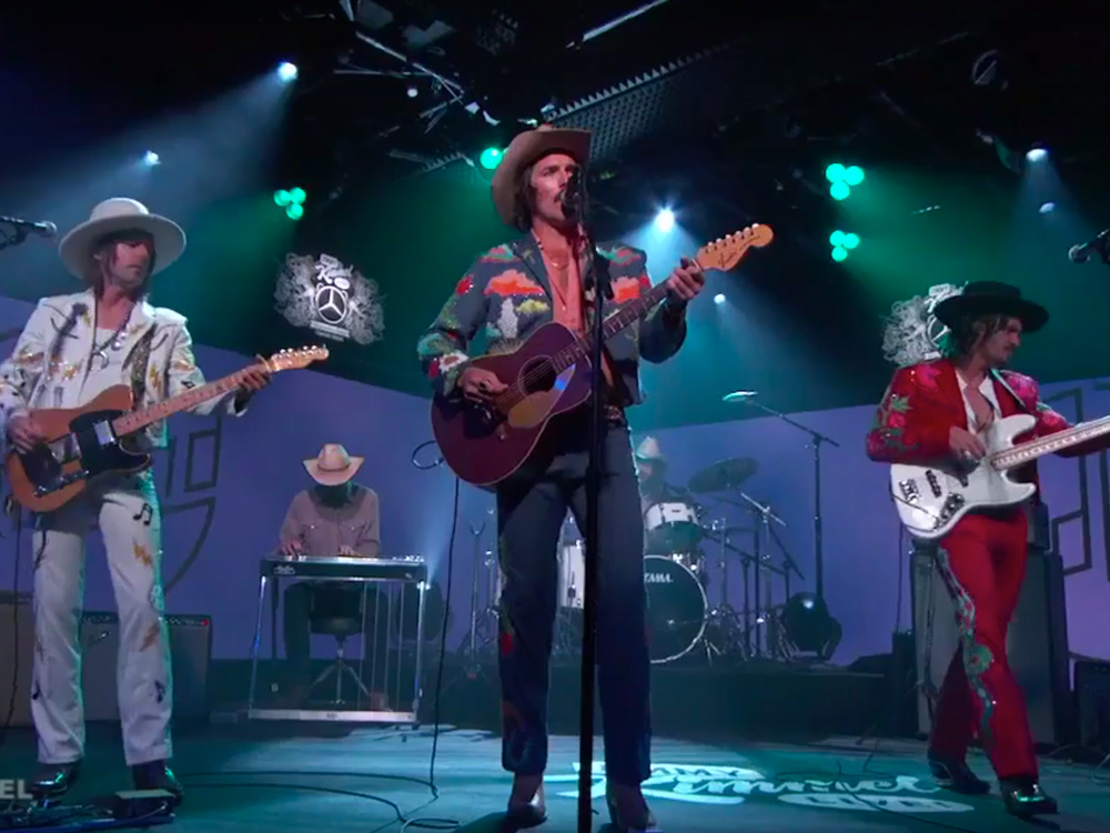 "Watch Midland Perform Top 10 Single, ""Drinkin' Problem,"" on ""Jimmy Kimmel"""