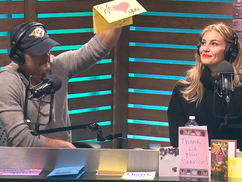 """Tim McGraw, Faith Hill, Blake Shelton, Keith Urban & More Help """"Ty, Kelly & Chuck"""" Send 100,000 Thank You Cards to the Troops"""