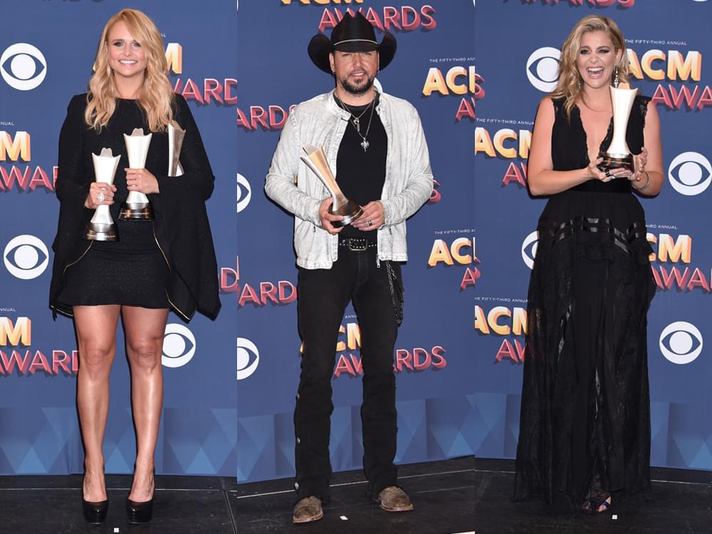 Backstage With ACM Award Winners Jason Aldean, Miranda Lambert, Lauren Alaina, Midland & More