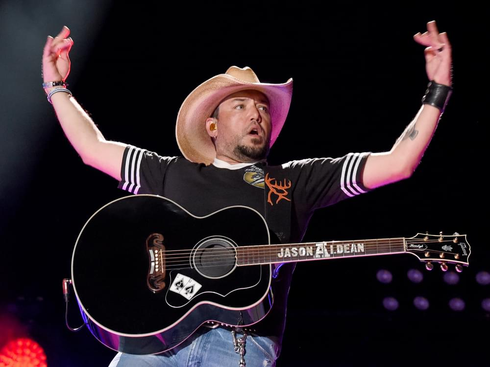 """Jason Aldean Says His """"Go-To Records by Alabama, Allman Brothers, Hank Jr. & John Anderson"""" Keep Inspiring Him Today"""