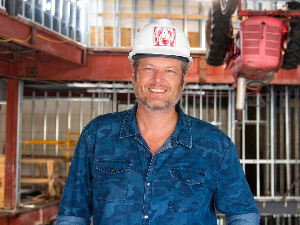 Blake Shelton Tours Construction at Ole Red Gatlinburg in Preparation of Spring 2019 Opening