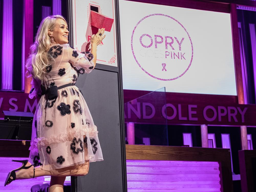 """Watch Carrie Underwood Flip the Switch at 10th Annual """"Opry Goes Pink"""" to Fight Breast Cancer"""