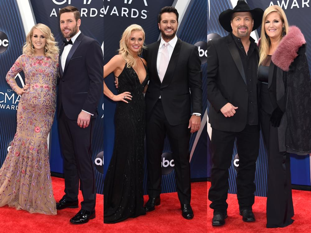 CMA Awards Red Carpet Photo Gallery With Carrie Underwood, Luke Bryan, Garth Brooks, Trisha Yearwood & More