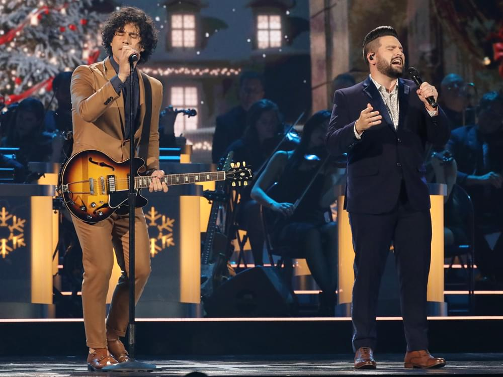 """Watch Dan + Shay Perform """"I'll Be Home for Christmas"""" From """"CMA Country Christmas"""" TV Special"""