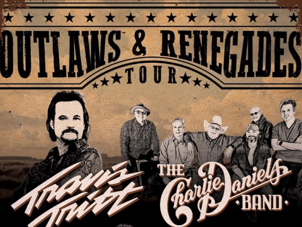 """Travis Tritt & Charlie Daniels Announce New """"Outlaws & Renegades Tour"""""""