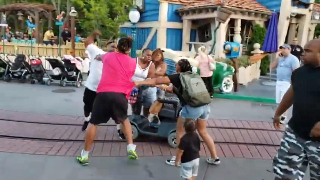 Fight breaks out in Disneyland's Toontown