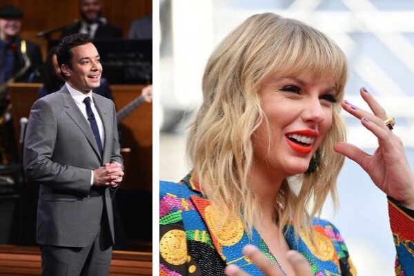 Jimmy Fallon Reveals A Never-Before-Seen Video Of Taylor Swift… To Taylor Swift