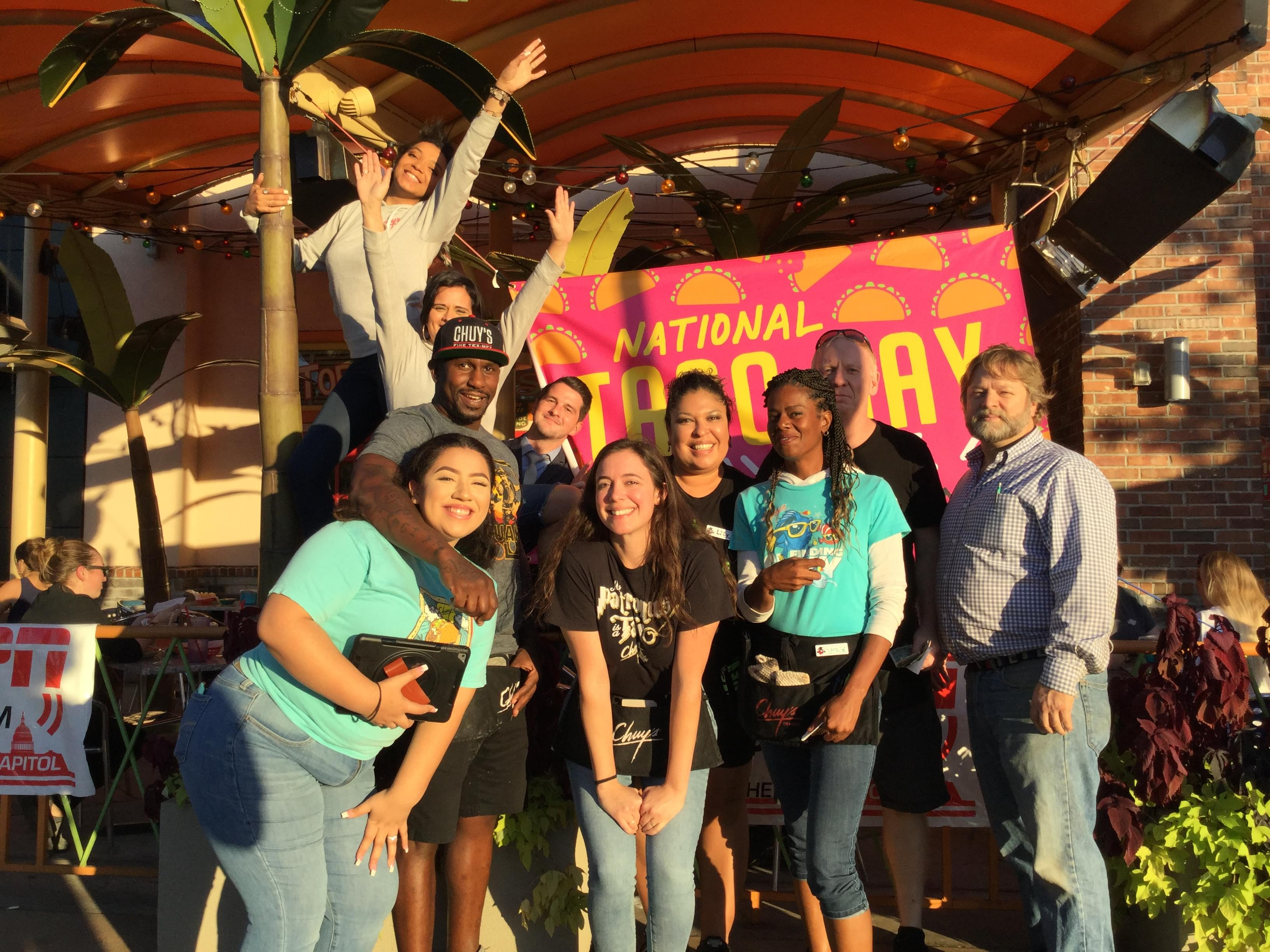 National Taco Day Live Broadcast @ Chuy's Springfield – 10/4/19
