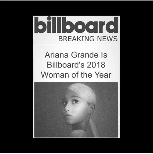 "Ariana Grande is ""Billboard's"" Woman of the Year"