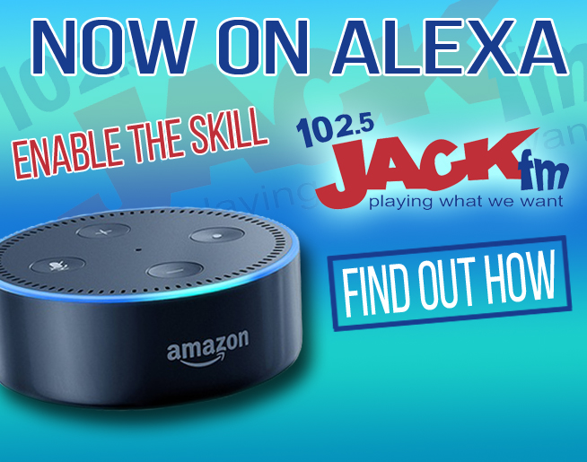 Play 102.5 JACK-FM on your Alexa-enabled device!