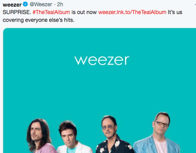 Surprise! // Weezer Drops Album Of Covers