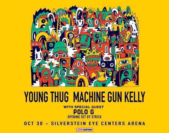 Young Thug & Machine Gun Kelly October 30that Silverstein Eye Centers Arena