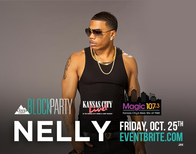 Nelly at Kansas City Live! on October 25th