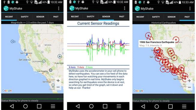 New App Sends Early Warning Alerts for Earthquakes