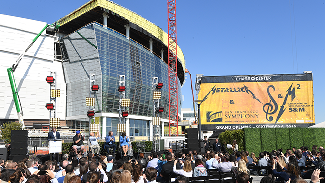 Metallica and the San Francisco Symphony will re-unite and perform together at Chase Center Opening