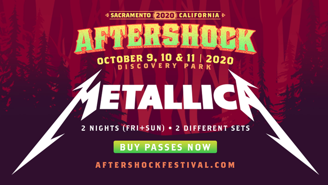 Metallica announces two headlining nights featuring two different sets at Aftershock 2020