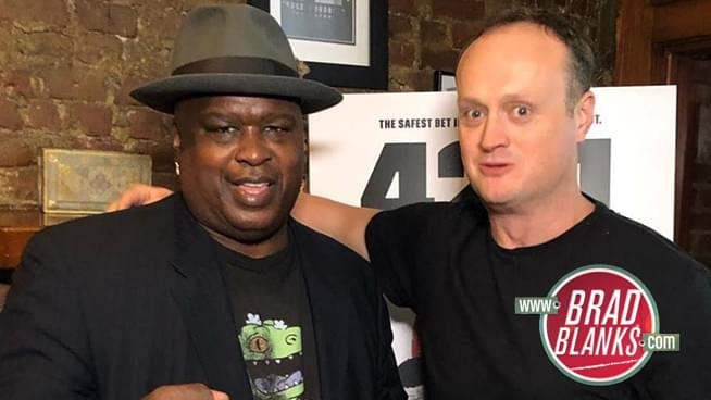Brad Blanks with Buster Douglas