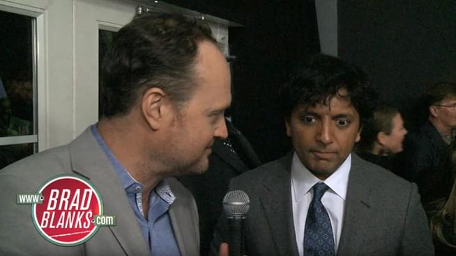 Brad Talks Glass with M. Night Shyamalan