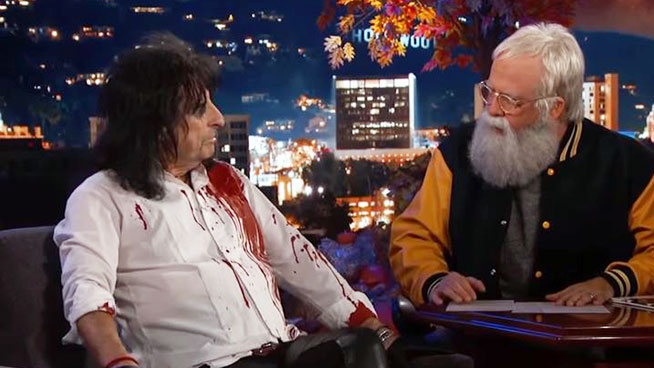 Dave Grohl Dresses as Letterman, Alice Cooper Performs with Foo Fighters