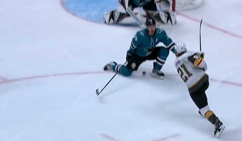 Logan Couture Blocks Shot With Nuts