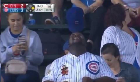 Cubs Fan Does Amazing Hat Trick In Bleachers