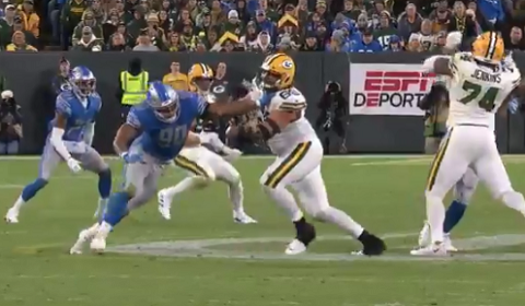 Lions Illegal Hands To The Face Penalties Against The Packers