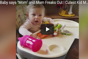 """This Baby Can't Handle Her Mom's Excitement When She Says """"Mama"""""""