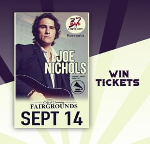 Win tickets to see Joe Nichols at the Cumming Fairgrounds