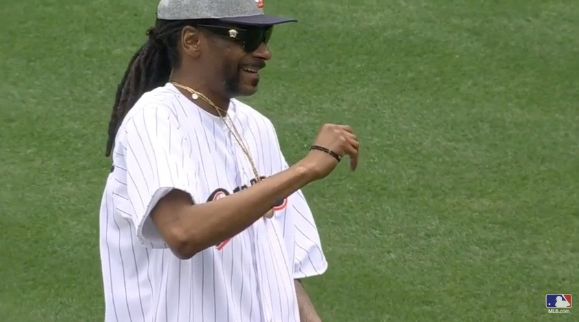Snoop Dogg Throws Out First Pitch