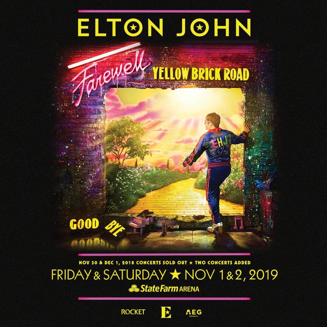 Nov 1 & Nov 2 – Elton John